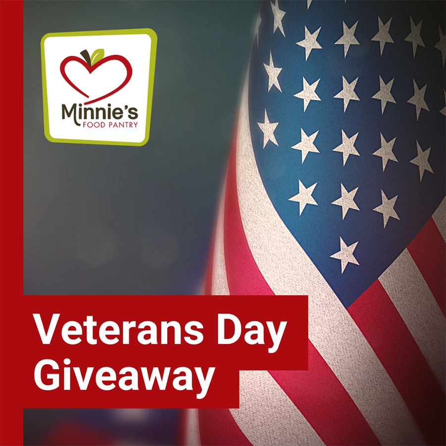Veterans Day Giveaway 2018 Minnie's Food Pantry