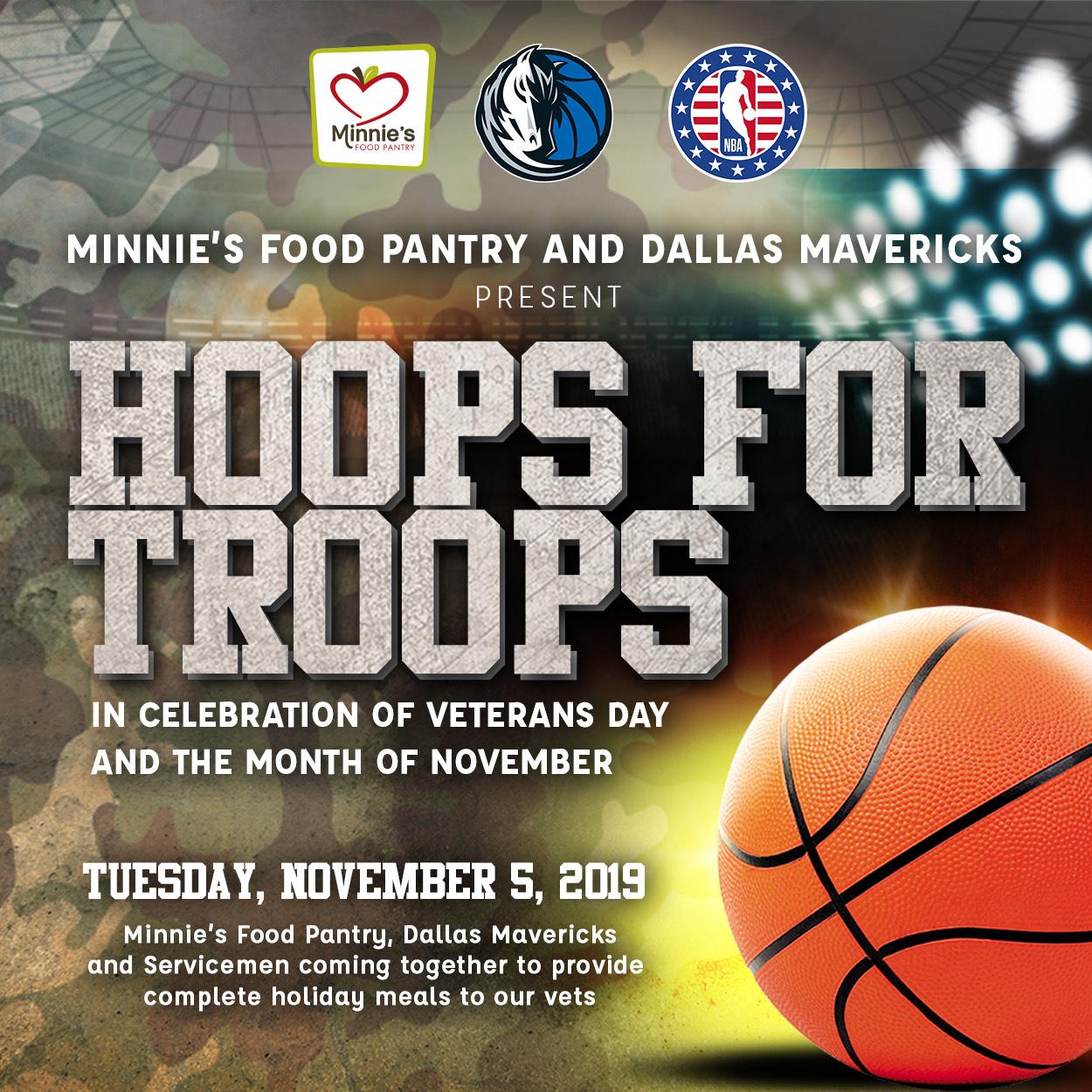 Hoops for Troops Minnie's Food Pantry