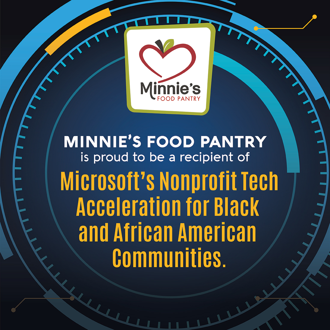 Minnies Food Pantry Microsoft Partnership