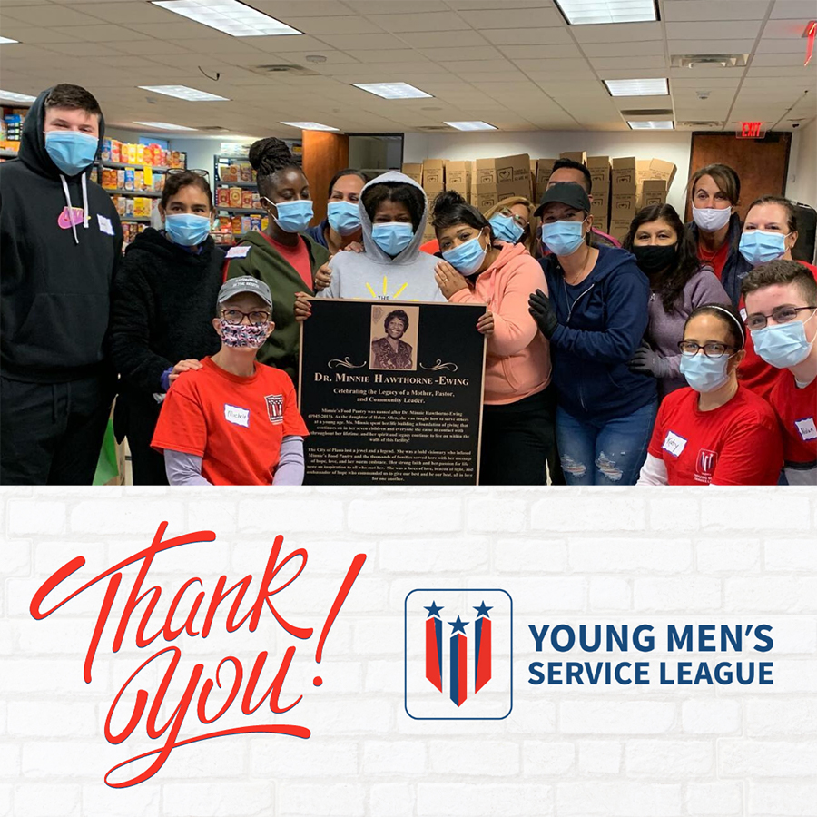 young mens service league thank you