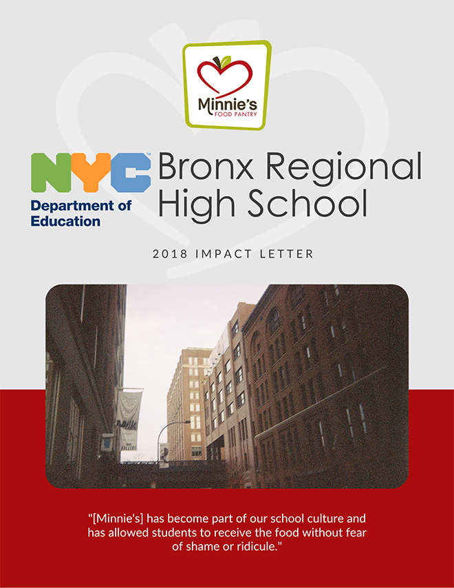 Bronx Regional High School Minnies Food Pantry Impact