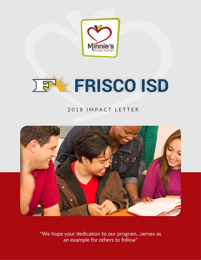 Frisco ISD Minnies Food Pantry Impact